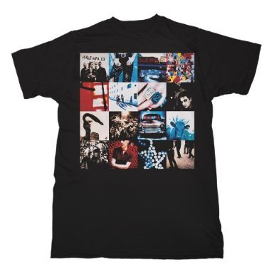 U2 'Achtung Baby' Black T-Shirt (Large)