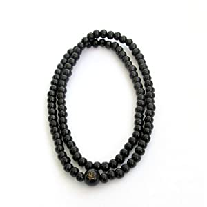 108 Black Wood Beads Tibetan Buddhist Prayer Japa Mala