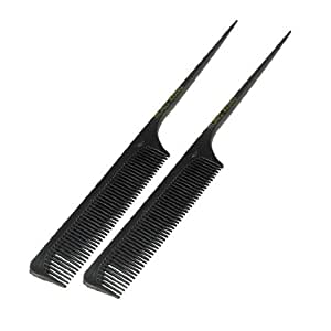 Lady Plastic Tapering Handle Hair Combing Peine Espeso Comb 9.32 Pcs