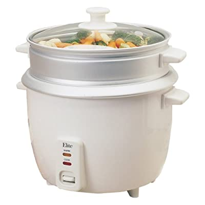 Maxi-Matic Elite Gourmet Rice Cooker with Glass Lid by Maximatic