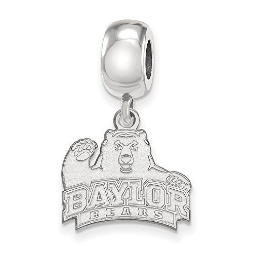 Sterling Silver LogoArt Official Licensed Baylor University Small Dangle Bead