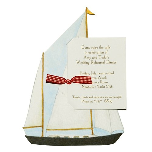 Sailboat Die-Cut Card, Pack Of 10 front-948636