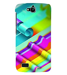 Fuson 3D Printed Coloured Pattern Designer Back Case Cover for Huawei Honor Holly - D1026