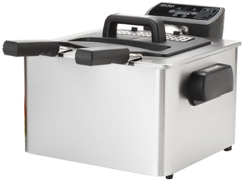 Aroma ADF-232 Smart Fry XL 4-Quart Digital Dual-Basket Deep Fryer