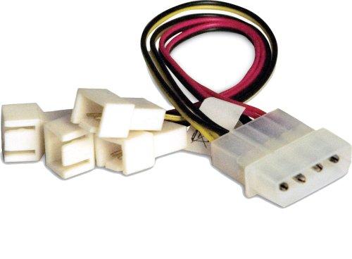AKASA Adattatore d'alimentazione molex verso 4 connettori 3 pin per ventola AK-CB-001