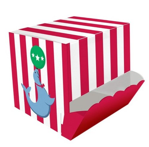 Creative Converting Circus Time Guest Treat Boxes, 4 Count - 1