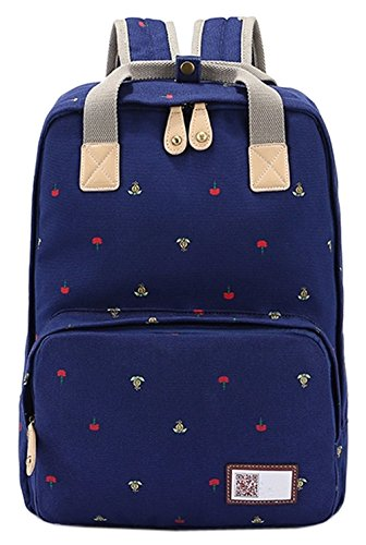 ainisi-girls-youth-casual-navy-blue-canvas-travel-backpack-bookbags