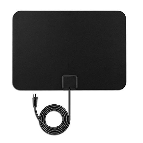 Antenne Amplifiée HDTV VicTsing Antenne Intérieure Numérique Ultra-mince 50 Miles Plage, avec Booster Détachables Amplificateur Signal 3m Câble