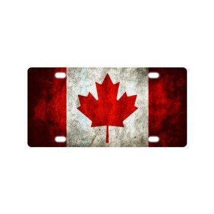 Canada Flag Custom Novelty Front License Plate For Car Custom Decorative Car Tag 12 X 6 Inch (Canada Customs compare prices)
