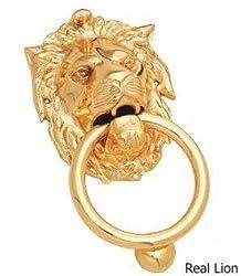 Kodia Real Lion 5 Fg Solid Brass Heavy Door Knocker