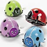 Flipping Wind-Up Lady Bugs (1 dozen) - Bulk [Toy]
