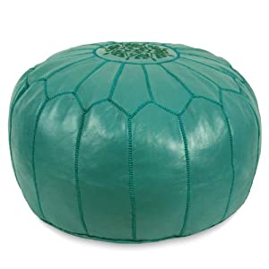 Moroccan Pouf, Pouffe, Ottoman, Poof, Color : Teal