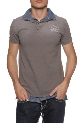 Fred Mello Maglietta Polo BORN TO LEAD, uomo, Colore: Grigio, Taglia: L