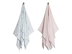 Bebe Au Lait Muslin Swaddle Blankets - Little Owl + Tinsley by Bebe Au Lait