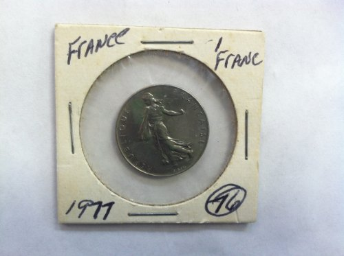 1977 French 1 Franc World Coin - 1