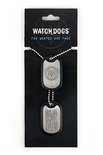 Watch Dogs - Set de 2 placas para perros en una cadena de bolas de 60 cm (Gaya GE2070)