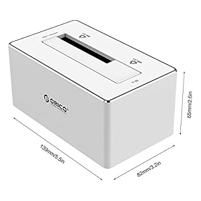 """ORICO Aluminum 3.5 inch SATA III & USB 3.0 Hard Drive Docking Station for 2.5"""" and 3.5"""" HDD - Silver"""