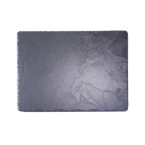 Platos individuales Slate 60 x 45 cm L-XL fuente Rectangular/tabla de cortar queso, negro