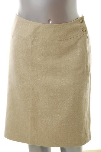 Lauren Ralph Lauren Plus Size A-line Skirt Gold Metallic Sale 18W