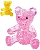 PicknBuy 3D Crystal Puzzle Pink Teddy Bear Jigsaw Puzzle IQ Toy Model Decoration