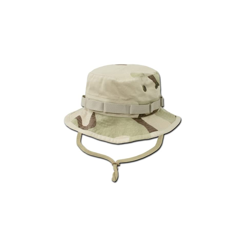 673d2027b86acb Rapid Dominance Military Style Drawstring Jungle Boonie Bucket Hat (Desert  Camouflage, Small)