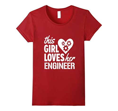 Women's Engineer Girlfriend Shirt tshirt Large Cranberry (Engineer Girlfriend Shirt compare prices)