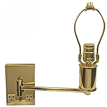ashley lighting polished brass modern bedroom wall