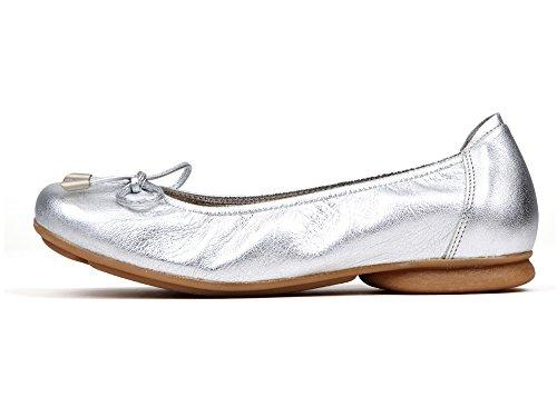 Ballerine piatte Sabrinas (37, argento)