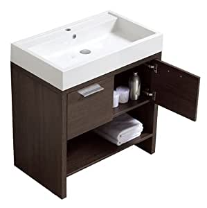 luxo marbre relax v31 a relax vanity with synthetic marble sink alamo oak bathroom vanities