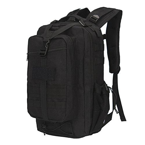 Alpinismo Outdoor borsa zaino tattico Camo zaino travel 43*24*22cm,Nero