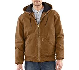 Carhartt Men\'s Quilted Flannel Lined Sandstone Active Jacket J130,Carhartt Brown,XX-Large