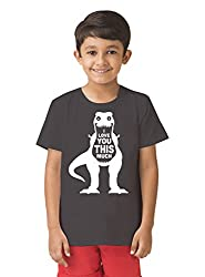 Mintees 100% Combed Cotton Boy's Graphic Print Light Grey Colour Tshirt MBRNT06-006_6-7Yrs