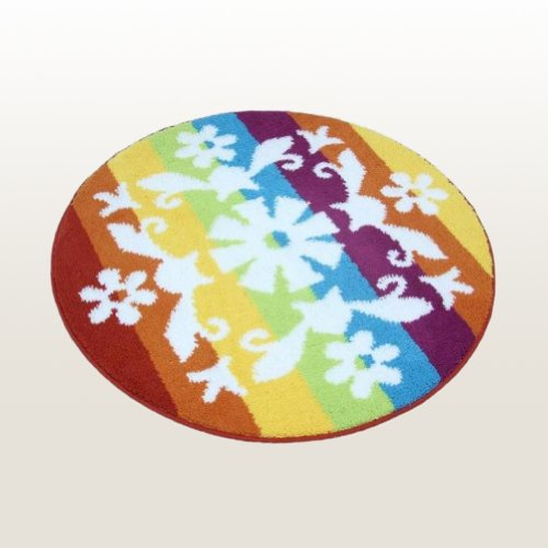 Naomi - [Romantic Snowy World] Round Home Rugs (35.4 by 35.4 inches)