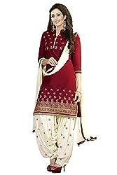 Dipak Fashion New Designer Red Fancy Printed Cotton Salwaar Kurti For Women