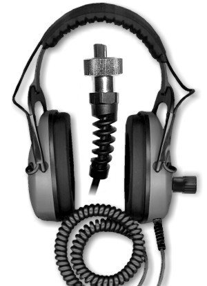 DetectorPro Gray Ghost Amphibian for Garrett AT Pro/Gold and Infinium Metal Detector Headphones