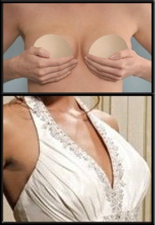 BustFree Strapless Bridal Bra in Nude & Extra Large Size .. Fits Cup Sizes Full C to Regular D