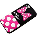 JBG Cute Disney Cartoon Shadow Soft Silicone Back Case Cover for iPhone 4 / 4S Minnie Mouse