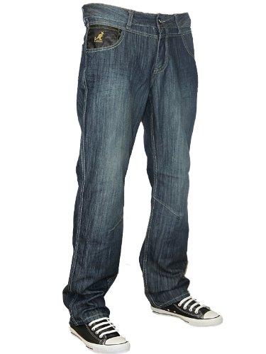 Mens Blue Kangol Carter Designer Regular Fit Denim Jeans W30 L32