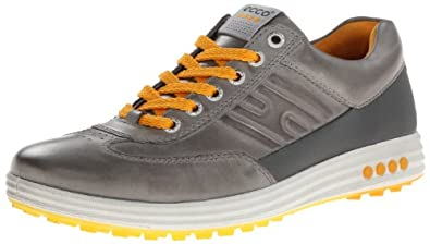 ECCO Men's Street EVO One Golf Shoe,Wild Dove/Dark Shadow,40 EU/6-6.5 M US