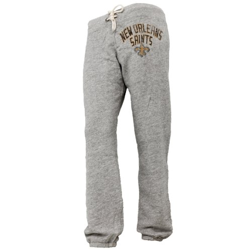 New Orleans Saints - Womens Sunday Juniors Sweatpants Large Grey at Amazon.com