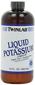 Twinlab Liqui-K, Liquid Potassium, Unflavored , Sugar Free, Sodium Free, 16 Fluid Ounce (Pack of 4)