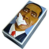 大統領顔ティッシュケース 希望の星オバマ 62961