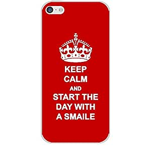 Skin4gadgets Keep Calm and Start The Day with a Smile No.1 - Red Phone Skin for APPLE IPHONE 5C