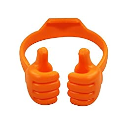 WireFox Thumbs Up Stand Holder For Tablet, Mobile & Gps Holder (Orange) 1 Year Warranty