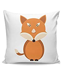 PosterGuy Cute Fox Animal Character cute, fox, animal, character, fox art , watercolor fox painting, fox, fox illustration, watercolor animals, Cushion Cover
