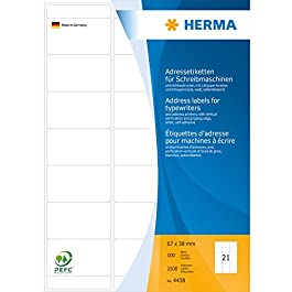 Herma 4438 Etiquettes Blanc