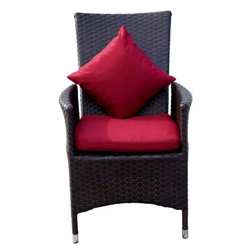 Outflexx Möbel 2-er Set Polyrattan Stuhl verstellbar w3, braun bestellen