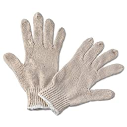 String Knit General Purpose Gloves, Large, Natural, 12 Pairs, Sold as 12 Each