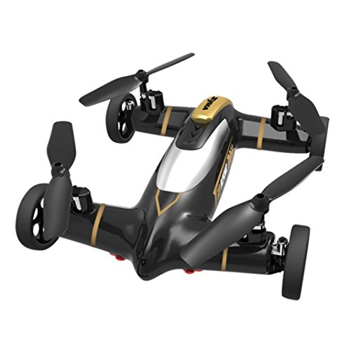 Perman X9 2.4G Speed Switch With 3D Flips Flying Car RC Quadcopter Drone Sky and Land High-Speed Racing Car 4CH 6 Axis Gyro UFO Black