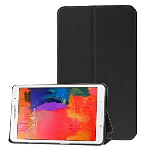 Crazy4Gadget Frosted Texture Flip Leather Case with Holder for Samsung Galaxy Tab Pro 8.4 / T320 (Black)